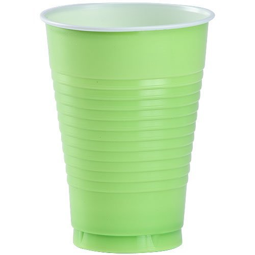 Party Dimensions 20 Count Plastic Cup, 12-Ounce, Lime Green