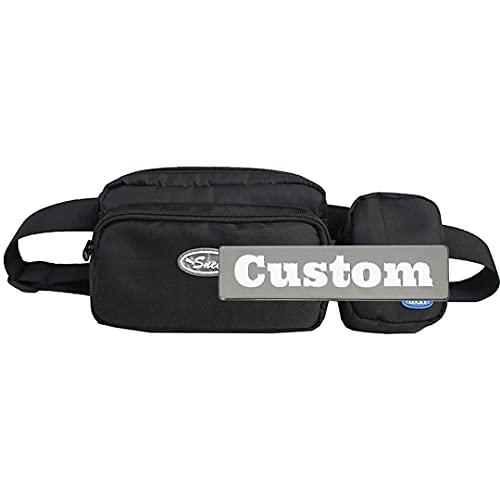 Nome personalizzato Sling Pack Piccola borsa da trekking per gli uomini Nylon pieghevole Daypack per gli uomini, Nero , Taglia unica,