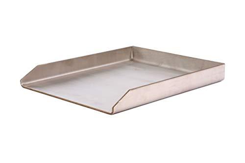 Plancha offen 30 cm/40 cm /5 cm / 4 mm Edelstahl Feuerschale Grillplatte Feuerplatte Grillschale Grillpfanne Pfanne