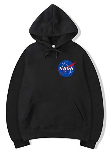 Haosheng Donna Felpa Creativo Infinite NASA Stampato Galaxy Planet con Cappuccio a Manica Lunga(L)
