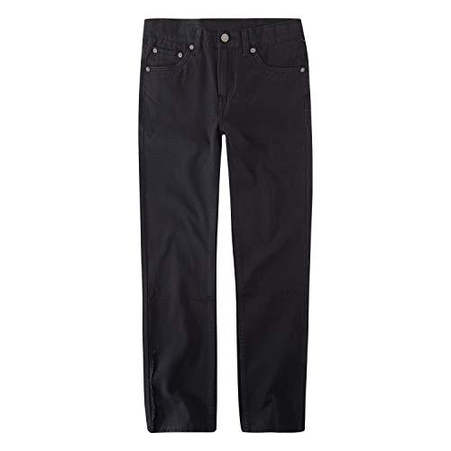 Levi's Boys' Big 502 Regular Taper Fit Jeans, Black Stretch, 16