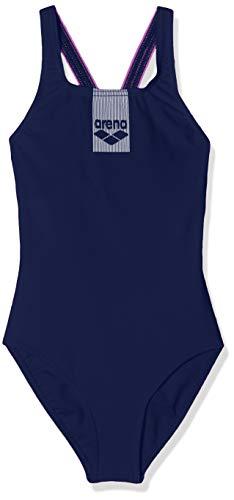 ARENA Basics - Bañador Deportivo para niña, Niñas, Traje de baño de una Sola Pieza, 002352, Navy-PROVENZA, 140