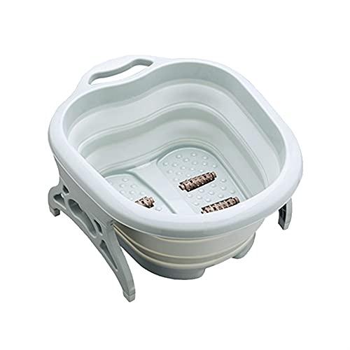 ROTAKUMA Tina Plegable De Lavado De Pies con Tapa Sauna Remojo De Espuma De Masaje De Espuma Pedicura Pedicura Bath Bath Portable (Color : 02)