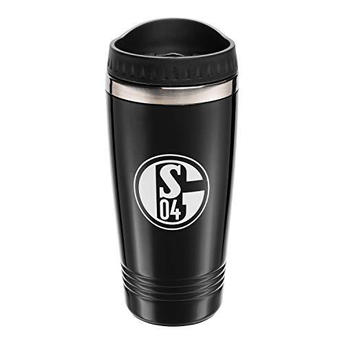 FC Schalke 04 Thermobecher schwarz, Kaffeebecher to go, Tasse, Mug S04 - Plus Lesezeichen I Love Gelsenkirchen