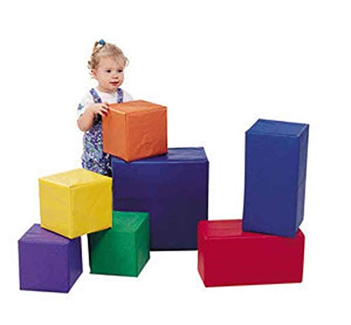 Children's Factory Sturdiblock Set, Large Foam Blocks for Toddlers, Big Building Blocks, Soft Play Equipment for Homeschool/Daycare/Playroom, Set of 7