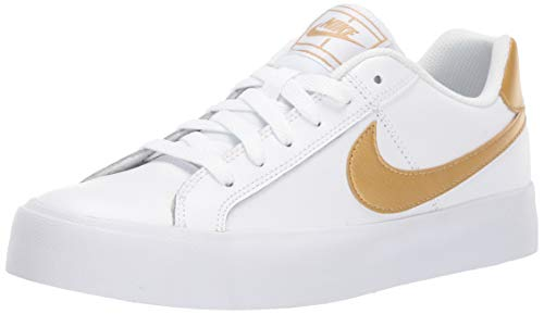 Nike Damen Court Royale AC Tennisschuhe, Mehrfarbig Weißmetallic Gold 109, 36.5 EU