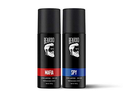 Beardo Perfume Body Spray Combo (Mafia Perfume Body Spray & Spy Perfume Body Spray) | Made in India