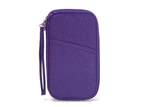 DyNamic Wasserdicht Pen-Pencil Phone Travel Passport ID Credit Card Ticket Geldbörse Makeup Zipper Storage Holder Bag Case - Lila