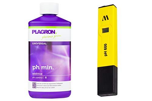 Milwaukee pH-Messgerät + 500 ml Plagron pH-Minus - Garten Pflanzen Wert Pooltester Teststreifen für Pool pH-Meter Messen Wassertester Digital Aquarium Schwimmbad Grow Anbau Indoor