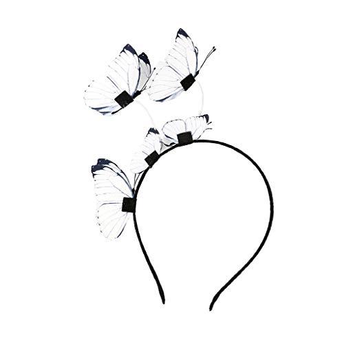 F Fityle Fascia Capelli Con Farfalle Accessori Costume Cosplay Per Regalo Donna Ragazza - Giallo, 16 x 20 x 2 cm