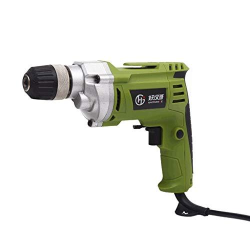 DRHLOOW Corded Drill elektrische Bohrmaschinen Pistolengriff mit Variabler Geschwindigkeit Close Quarter Power Drill High Power Handbohrmaschine Schlagbohrmaschine Elektro-Schrauber (Color : Green)