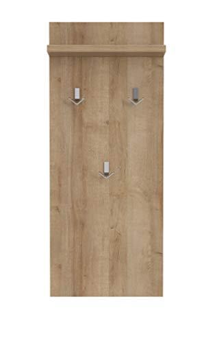 MAJA Möbel Check Pannello Appendiabiti, Materiale a Base di Legno, Rovere Riviera, 50,0 x 120,0 x 21,8 cm