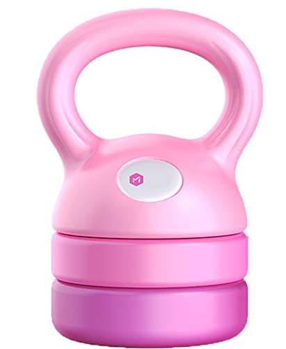 Art Kettlebell,Verstellbare Kettlebell 5-12Lb Ideal füR GanzköRpertraining und Krafttraining (Single),Pink
