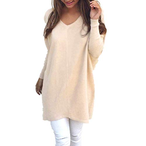 Blusa de manga larga para mujer con capucha, de franela peluda, cálida, para invierno, lisa, para mujer, beige, 40