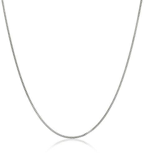 Cadena maciza de 18quilates,oro blanco 750, 1,2mm de ancho y longitud a elegir