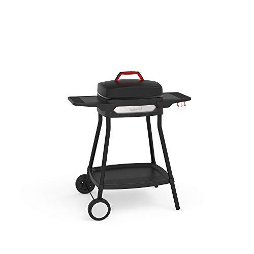 barbecook Elektrogrill zur Nutzung als Standgrill oder Tischgrill, elektrische Grillplatte mit Antihaftbeschichtung, BBQ Grill für In- und Outdoor, 2000W, schwarz, 84 x 55 x 97 cm