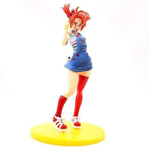 LJXGZY Serie de Juegos Modelo Hecho a Mano PVC Anime Modelo Personajes Horror Linda Chica de Belleza Chucky Coleccion Decoracion Modelo Regalo de cumpleanos Estatua 20cm