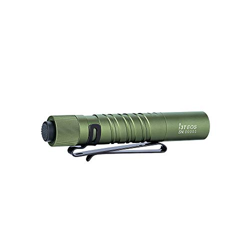Olight i3T EOS 180 Lumens (OD Green) Dual-Output Slim EDC Flashlight for Camping and Hiking, Tail Cap Swith LED Flashlight with AAA Battery