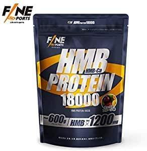 FINE SPORTS HMB-Ca配合の次世代プロテイン HMBプロテイン18000 フルーツミックス味 日本製 600g product image