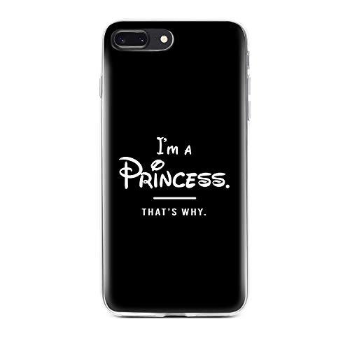finoo   iPhone 7 Plus Hard Case Handy-Hülle mit Motiv   dünne stoßfeste Schutz-Cover Tasche in Premium Qualität   Premium Case für Dein Smartphone  Princess Black