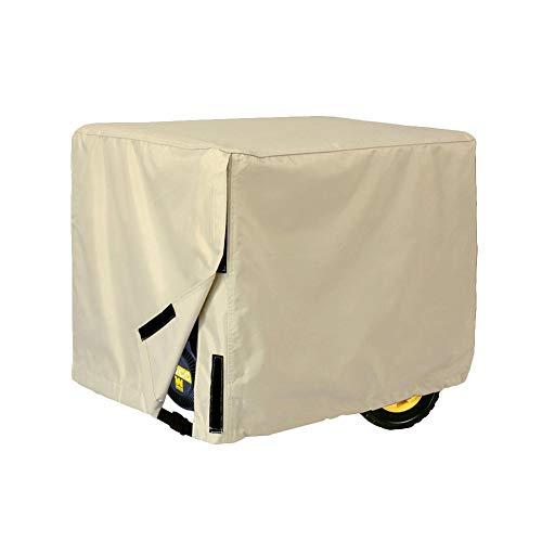 soundwinds Wasserdichte Generatorabdeckung Outdoor Generator Abdeckung Oxford Polyester Schutzhülle Beige Yellow-38 l*30' h*28' w