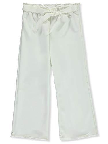 Miss Majesty Big Girls Front Tie Palazzo Pants - Ivory, 10-12
