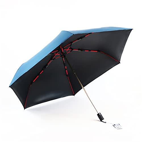 ZRJ Paraguas Portátil Paraguas Plegable Gran Tamaño Reforzado Viajes Resistentes Al Agua Paraguas Plegables para Mujer Paraguas Clásicos (Color : B)