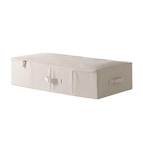ZXL Grote opbergboxen onder het bed, dekbedovertrek, 29,5 x 15,7 x 7,1 inch, grijs