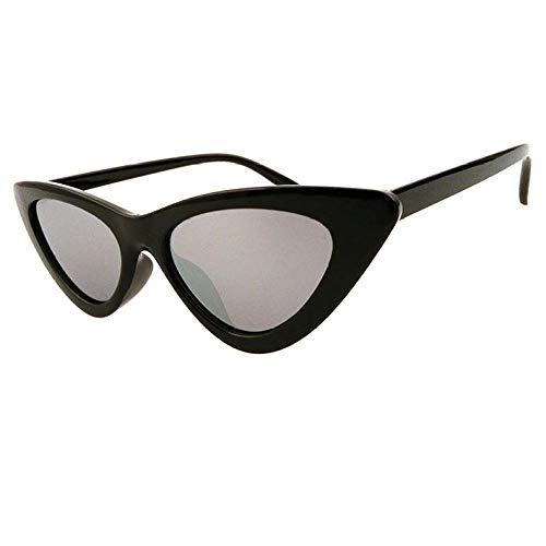 Europeo y americano nuevo triángulo gafas de sol de las señoras de moda ojo de gato gafas de sol transparente lente de océano gafas de sol marco gris claro_disparo físico