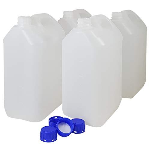 Bidón Garrafa Plástico 5 litros. Homologado para transporte. (4 Unidades)