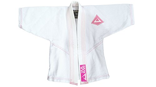 Vulkan Fight Company Brazilian Jiu Jitsu, Limited Edition Baby Girl & Boy BJJ GI, White/Pink, B1