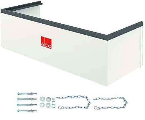 ACO Therm Lichtschacht-Aufsatz höhenverstellbar Aufstockelement INKLUSIVE Montageset 100 x 34 x 40 cm