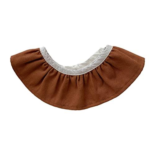 LANCHEN - Baberos de alimentación para bebés de algodón Suave con Cuello Falso, Toalla de Saliva, Bufanda de Tela para eructos