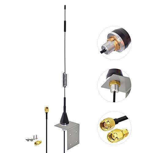 Bingfu Antena 4G LTE Exterior Celular SMA Macho 7dBi Montaje en Pared para Cámara de Seguimiento Cámara de Seguridad Móvil Módem Puerta de Enlace Enrutador Teléfono Residencial Celular 4G LTE