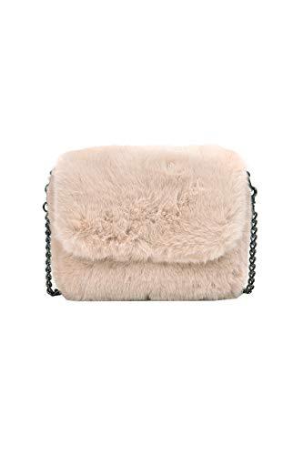 Ulisty Damen Herbst Winter Klein Kunstpelz Schultertasche Flauschige Quadratische Tasche Kettenriemen Umhängetasche Plüsch Handtasche Khaki