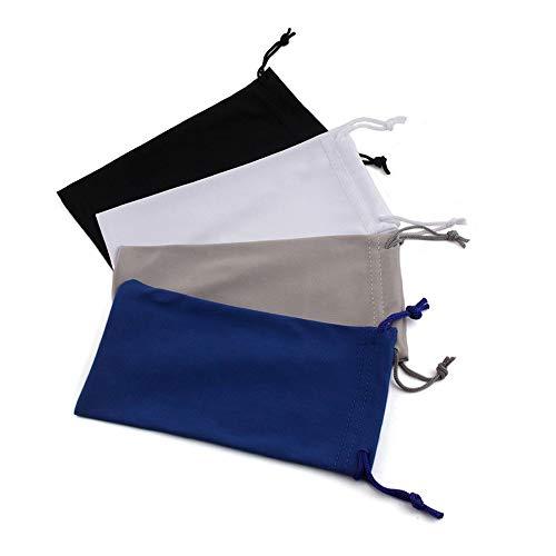 LERTREE 4 PACK Sunglasses Bag Microfiber Dustproof Eyeglasses Storage Pouch Eyewear Carrying Case w/Glasses Cloth