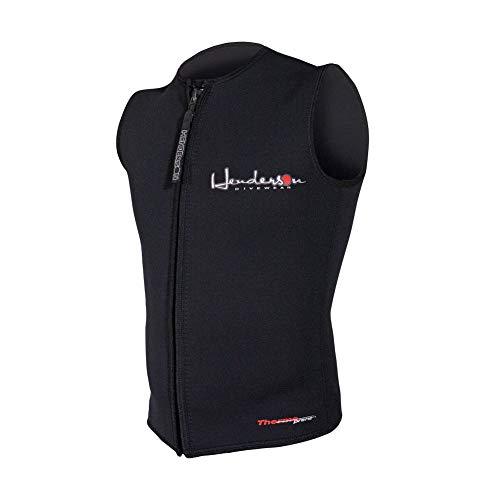 Henderson Men's Premium 3MM Thermoprene Zippered Vest, Black, XL - Diving