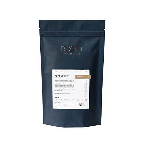Rishi Tea Peppermint Lease Loof Herbal Tea   Immune Support, USDA Certified Organic, Fair Trade Botanical Tea, Caffeine-Free, Nutrient Dense, Antioxidants   1 lb Bag, Makes 115 Cups
