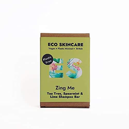 Eco Skincare Barra de champú sólida sin plástico, 110 g (árbol de té, menta verde y lima)