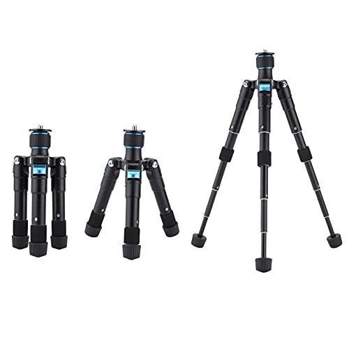 01 Mini trípode, trípode para teléfono Inteligente Trípode de Mesa Aleación de Aluminio con Eje Ajustable para cámara para cámara SLR para cámara sin Espejo