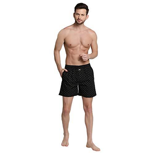 Van Heusen Printed Boxer Shorts Black