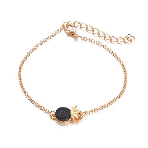 ALUN Armband Kreis Ananas Herz Marmor Liebe Kristall Armbänder Für Frauen Manschette Öffnung Armreifen Schmuck