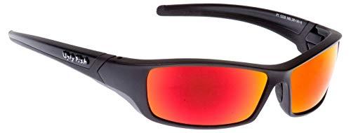 Ugly Fish RS5228 Sonnenbrille Matt Schwarz - Rot Revo Brillenglas