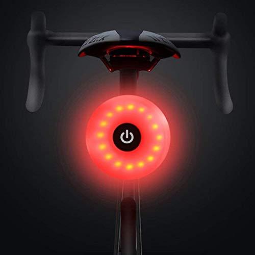 WASAGA Luz Trasera de Bicicleta, LED USB Recargable, Impermeable, Advertencia, 5 Modos, luz Trasera