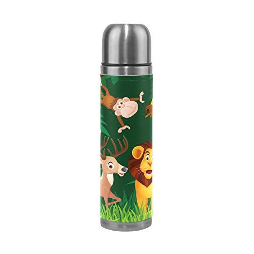ALINLO Zoo - Botella de agua de acero inoxidable con diseño de búhos de cebra,...
