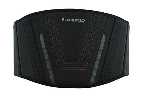 BLACKWILD Nierengurt Motorrad  Nierengurt Motorrad Herren und Damen, Grundschwarz   Effektive Stabilisierung nierenwärmer Lendenwirbelstütze Nierengurt (XL = 110-125cm Bauchumfang)
