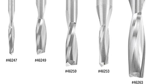 Amana Tool 46249 Solid Carbide Spiral Plunge For Solid Wood 1//4 Dia x 3//4 x 1//4 Sha