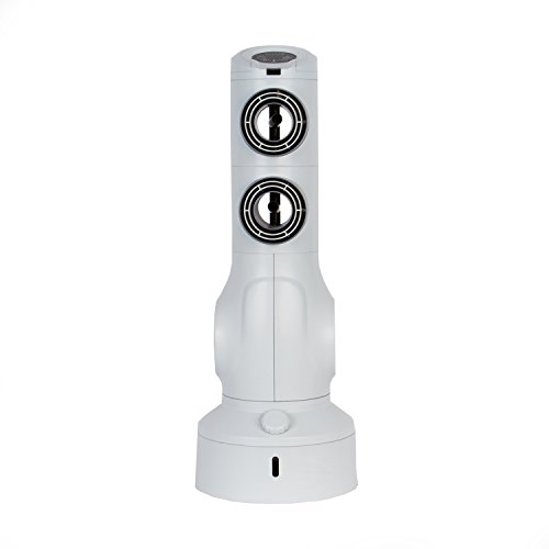 LifeSmart Sonicool Go 2 Low Voltage Dual Port Air Cooler and Fan, Tower, 2 Tone Gray