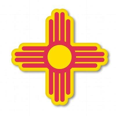 AK Wall Art New Mexico Sun State Symbol Vinyl Sticker - Car Window Bumper Laptop - Select Size