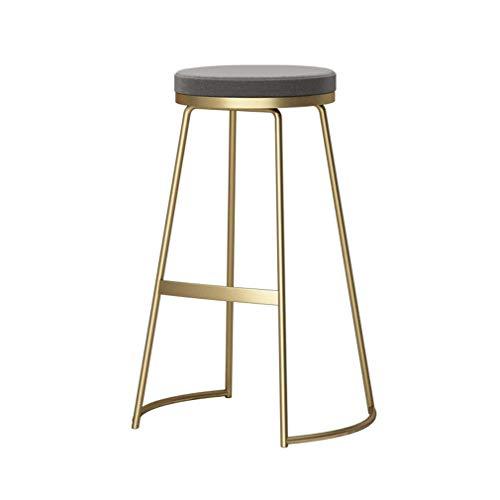 tabouret de bar DBL Polyvalent Hauteur comptoir Robuste Construction Soft Chairs Tabouret Assise Ronde Assemble Restaurants Minimaliste Design Fer + Flanelle